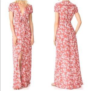 WAYF Maya Waist Tie Maxi Dress Sz Small